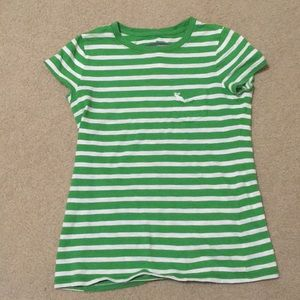 Green & white striped t shirt